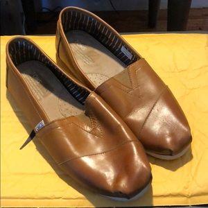 TOMS Cognac Leather Originals